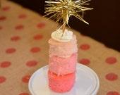sparkle tinsel cupcake topper or beverage stirrer - 10 to 14 business day turnaround timeframe