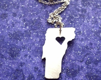 I Heart Vermont - Necklace Pendant or Keychain