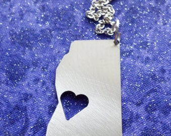 I Heart Mississippi - Necklace Pendant or Keychain