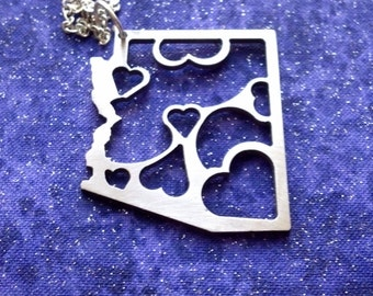 Lots of Love for Arizona - Necklace Pendant or Keychain