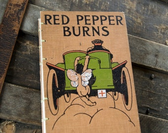 1910 RED PEPPER BURNS Vintage Notebook Journal