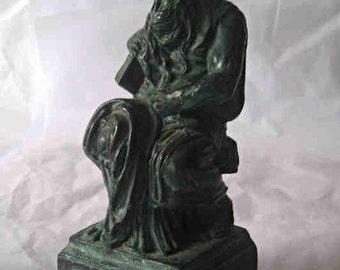 A Cast Metal Italian Metal Statue Moses B18