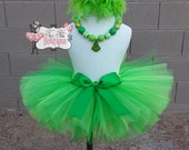 MR. GRINCH inspired- Green and feather baby/child Tutu with hairbow:  Newborn-5T