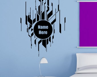 Vinyl Wall Art Decal Sticker Tribal Name Design 5504m