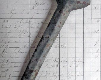 Antique French Zinc Garden Plant Marker