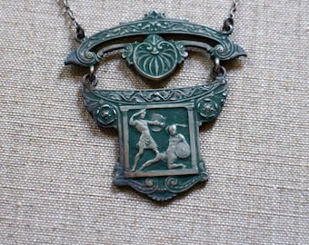 1920s Necklace / Egyptian Revival / Deadstock Vintage Egyptian Necklace