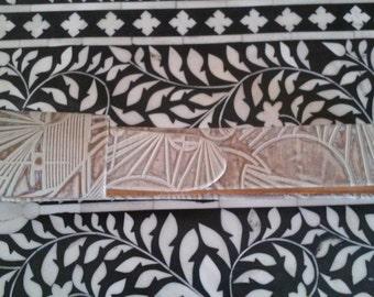 1988 WHITE BY HERRATTI--Tribal Leather Belt--Bold Printed Leather--Slightly Metallic