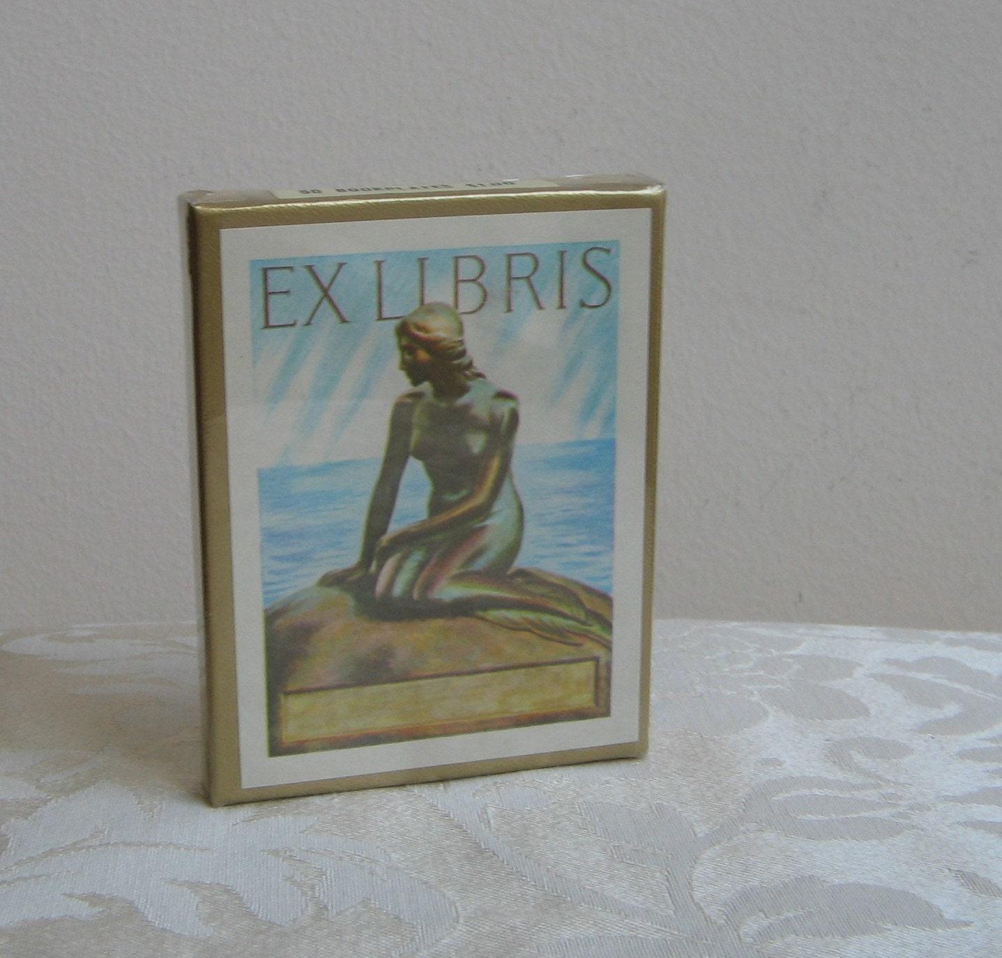 Vintage Ex Libris Antioch Bookplates set of 26 Unicorn Fairy pegasus fantasy
