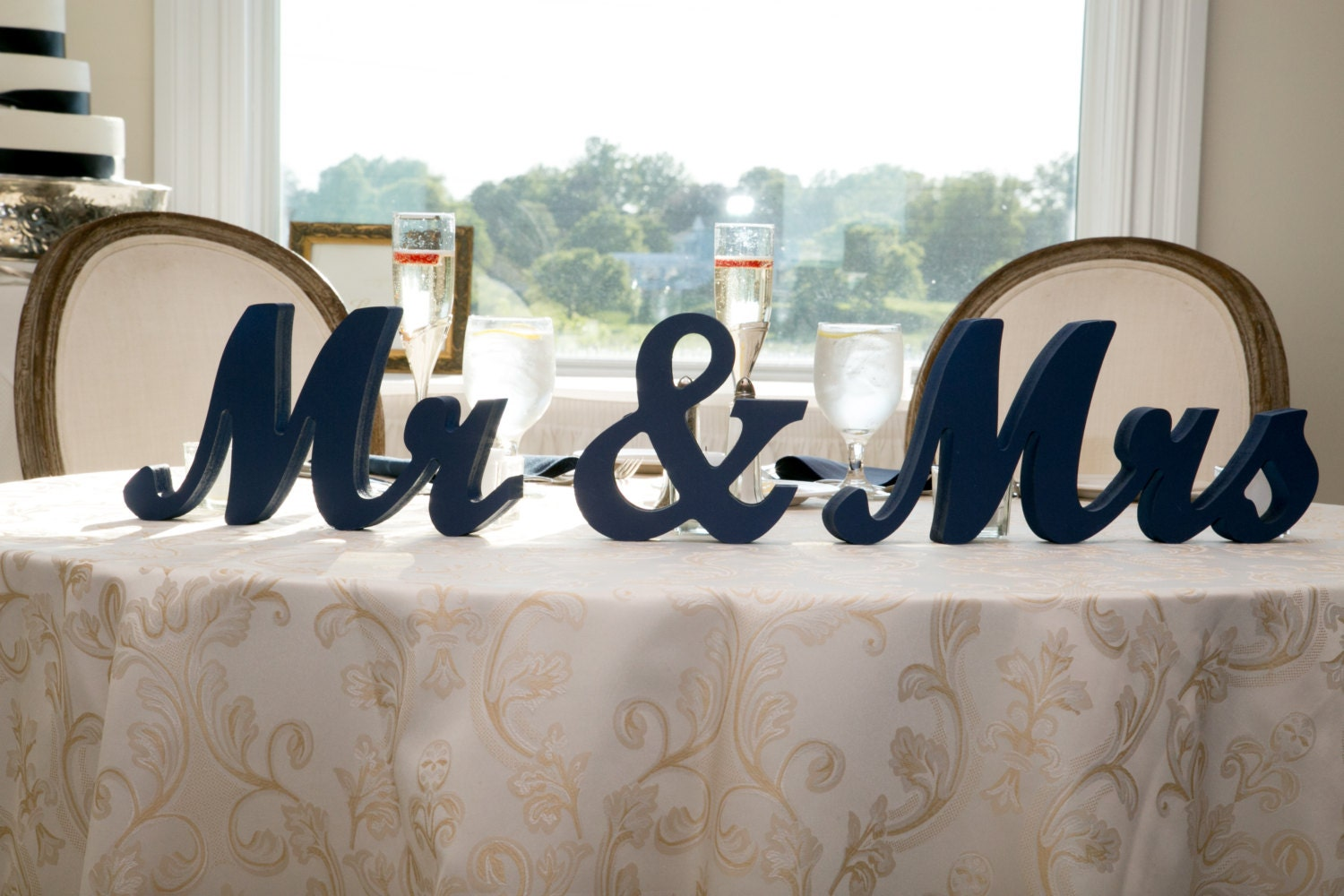 Mr And Mrs Large Wooden Letters: Mr Mrs Wedding Table Signs For Sweetheart Table Decor Wooden