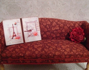 Miniature Dollhouse Pair of Signs One Inch Scale 1:12