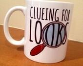 Clueing for Looks Sherlock Magnifying Glass Ceramic Mug