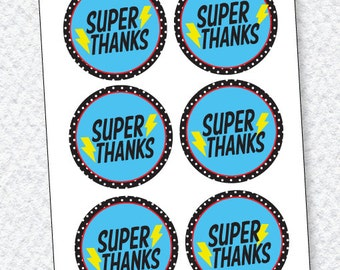 Super Hero Party PRINTABLE Favor Tags by Love The Day