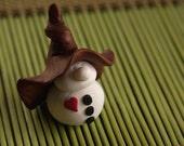 Mr. Snowman Gnome-man Holiday Clay Miniature