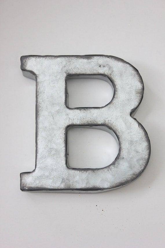 small metal letter zinc steel initial home room decor diy With small metal monogram letters