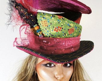 Mad Hatter Hat - open crown