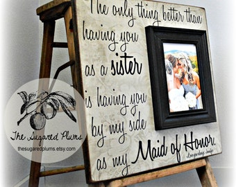 Bridesmaid Gift, Maid of Honor Git, Personalized Bridesmaid Gift, 16x16 The Sugared Plums Frames