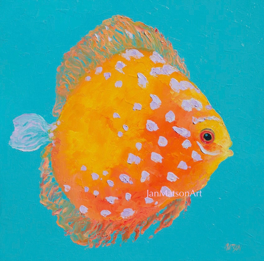 Fish Painting Tropical Fish Canvas Art Aquarium By