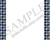 Ravenclaw Film Colors Checked Border Harry Potter Hogwarts Houses Stationery