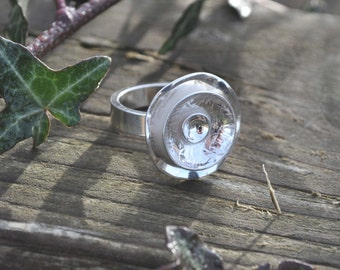 Handmade Silver Ring Flower Posy 925 Sterling UK size M (US 6.5)
