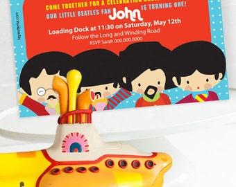Beatles Invitation | Beatles Birthday | Beatles Invitation Printable | Beatles Decorations |Beatles Party