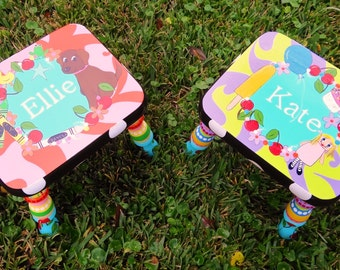 Personalized Stool Kids Stool Wood Stool My Favorite Things Foot Stool  Child's Stool Foot Stool for Kid's Personalized Foot Stool
