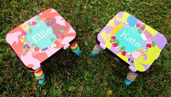 Personalized Stool Kids Stool Wood Stool My Favorite By