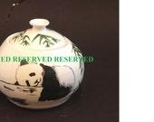 Small Wheel Thrown and Handpainted Ceramic Jar