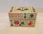 Vintage Stylecraft No 812 Tin Recipe Box Vintage Recipe Box