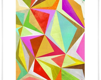 Dizzy Diamonds Art Print