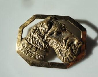 Dog brooch, Scottie dog jewelry, Schnauzer pin, Schnauzer jewelry, vintage dog, vintage Dog pin