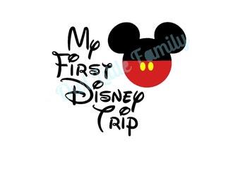 My First Disney Trip Mickey Iron On Vinyl Decal