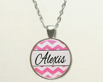 Personalized Name Necklace for kids, name jewelry, easter gift idea, personalized necklace for girls, personalized jewelry, chevron necklace