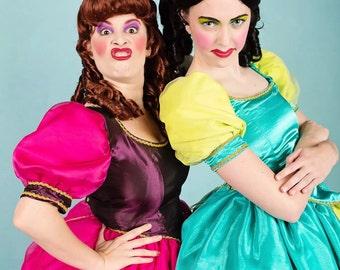 Evil Stepsister Costume - Custom Made Costumes, Ladies Costumes, Druzilla and Anastasia Cosplay, Cinderella Stepsisters, Family Costumes