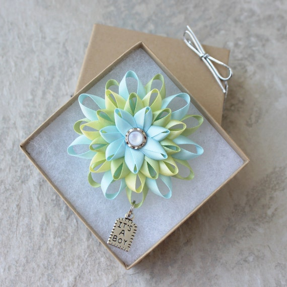 Baby Shower Present Ideas For Mum: Baby Shower Corsage Pin Its A Boy Corsage Its A Boy Pin