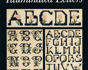 Cross Stitch Pattern Chart ~ Illuminated Letters a Regine Deforges Collection