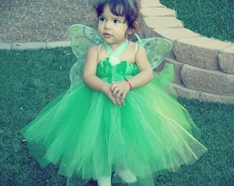 The Original Tinkerbell Costume -  High Quality Fairy Dress Newborn to 5T