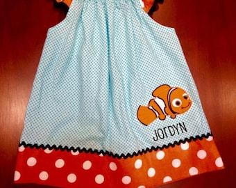 Nemo inspired flutter sleeve dress