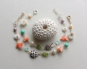 Beach Shell Bracelet, Ocean Bracelet, Beach Charm Bracelet, Beach Shell Anklet,Bohemian: LONG Length