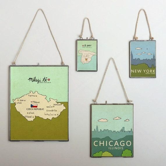 New York // Typographic Print, Art Poster Print, City Skyline, Giclee, Modern Baby Nursery, Illustration, Digital, NYC, Trendy