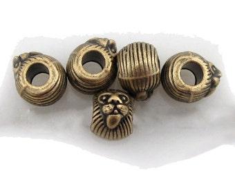 1 lion zion dreadlock bead