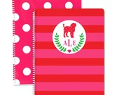 Monogrammed Notebook- Pick Your Dog Breed, Monogrammed Binder, Monogrammed Folder, Personalized Clipboard