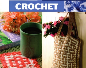 How To MOSAIC CROCHET Annie's Attic Intricate Looking Crochet Pattern Book