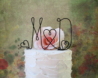 Initials Wedding Cake Topper, Rustic Wedding Monogram Cake Topper, Rustic Wedding Centerpiece, Anniversary Decoration, Engagement Party