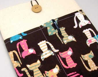 """11"""" 13"""" Macbook Pro case, Macbook Air cover, Surface RT Pro, Laptop, Custom tablet sleeve with 2 pockets PADDED - Cats"""