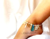 Spikey Tribal Beachy Feet Shell Anklet Blue Anklet Cruise Vacation Beach Ankle Bracelet