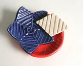 Polymer Clay Stamp, Geometric Stripes, Diamond Lines, Handmade Tool for Slab Building, Use with Pooling Glaze, Pottery, Ceramics
