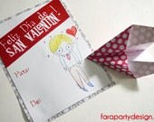 Valentine's day Kids Cards- editable by Fara Party Design