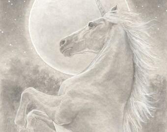 Unicorn 8.5x11 Signed Print with Original Sketch