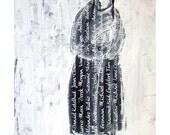 Stranger original painting figurative people