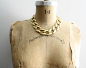 80s Glam Gold Vintage Chunky Chain Necklace